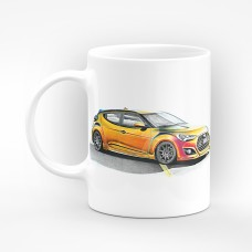 Порцеланова чаша с илюстрация  - Hyundai