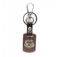 Автомобилен ключодържател с пластина и кожена подложка - Toyota