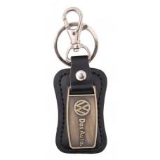 Ключодържател, изработен от кожа с метална пластина - Volkswagen