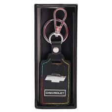 Ключодържател с кожена пластина с цветен шев - Chevrolet