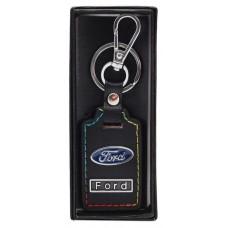 Ключодържател с кожена пластина с цветен шев - Ford
