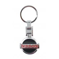 Автомобилен метален ключодържател - черна емблема на Nissan