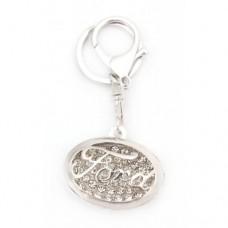 Ключодържател с емблема на Ford - декориран с бели камъни