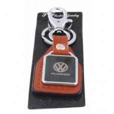 Автомобилен ключодържател с пластина и кожена подложка - Volkswagen