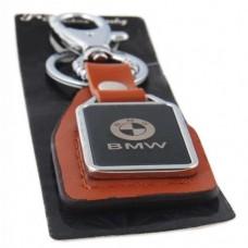 Автомобилен ключодържател с пластина и кожена подложка - BMW