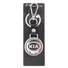 Автомобилен ключодържател с кръгла пластина - KIA