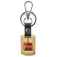 Автомобилен ключодържател с пластина и кожена подложка - Seat