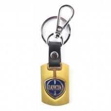 Автомобилен ключодържател с пластина и кожена подложка - Lancia