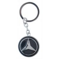 Автомобилен ключодържател с кръгла емблема - Mercedes