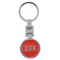 Автомобилен ключодържател с кръгла емблема - AUDI