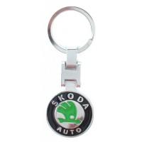 Автомобилен ключодържател с кръгла емблема - Skoda