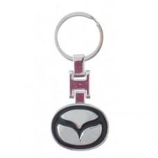 Автомобилен метален ключодържател - синя емблема на Mazda