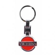 Автомобилен метален ключодържател - синя емблема на Nissan