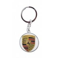 Автомобилен ключодържател с кръгла емблема - Porsche