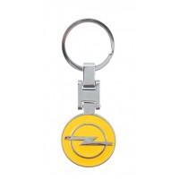 Автомобилен метален ключодържател - кръгла жълта емблема на OPEL