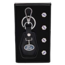 Комплект от автомобилен ключодържател и 4бр. капачки за винтили - Ford